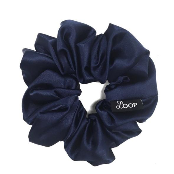 Loop Scrunchies - Midnight Satin