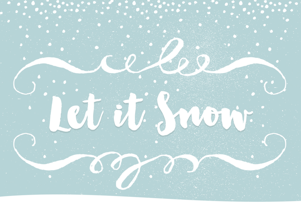 "Halifax Paper Hearts - ""Let It Snow"" Greeting Card"