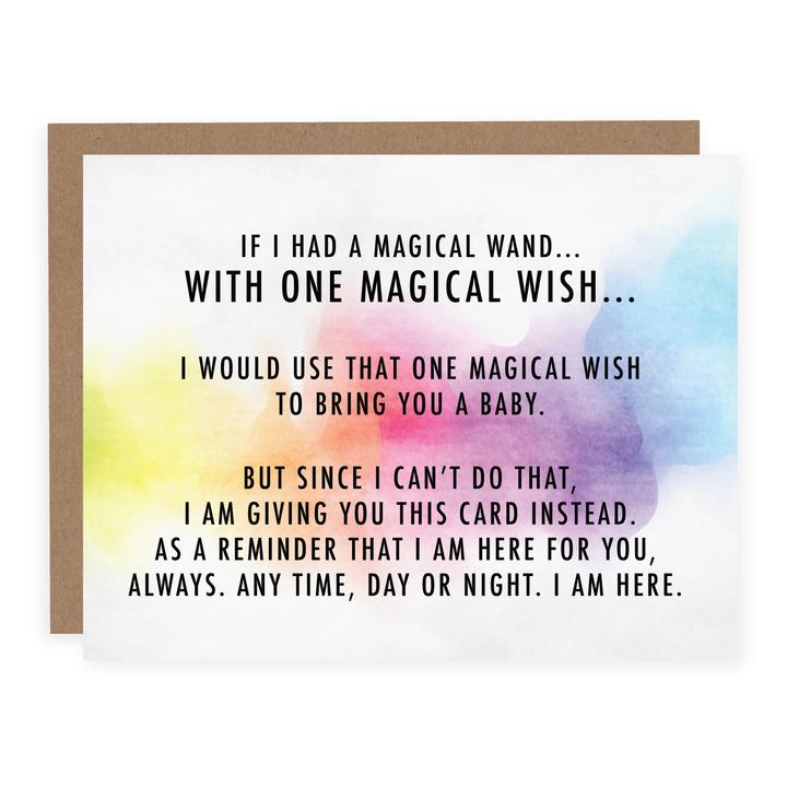 """One Magic Wish To Bring You A Baby"" Empathy Card"