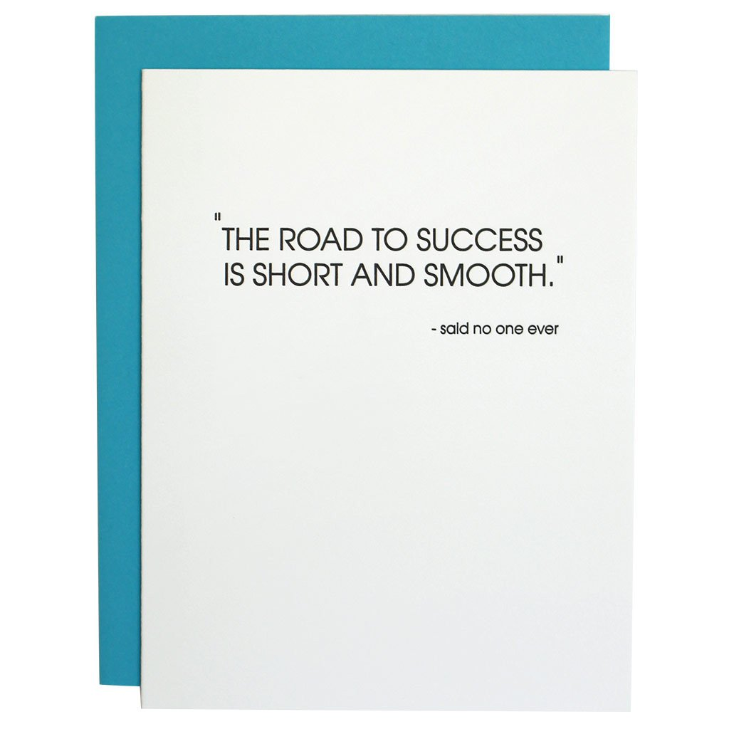 """Road to Success"" Greeting Card"