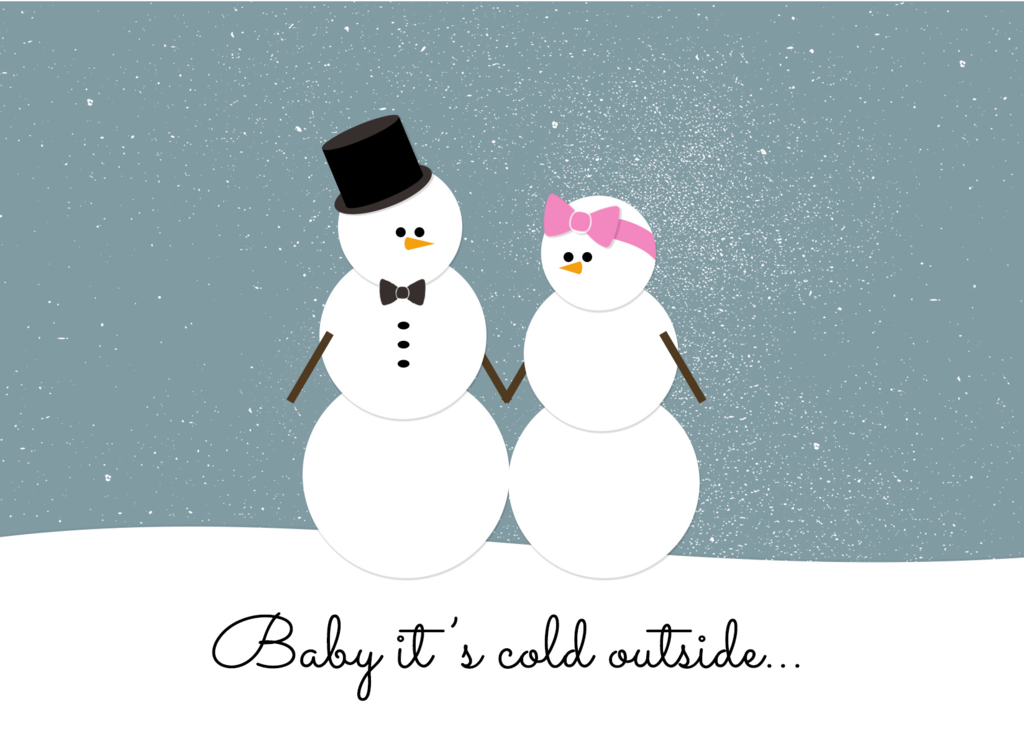 "Halifax Paper Hearts - ""Baby It's Cold Outside"" Holiday Card"