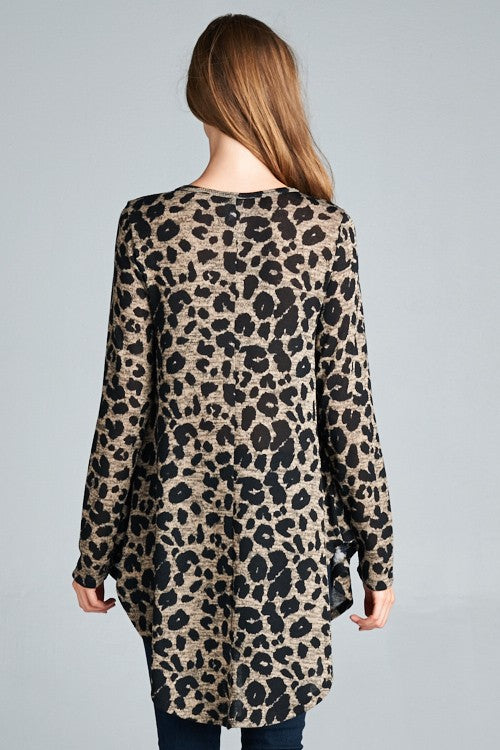 Leopard Baby Doll Tunic