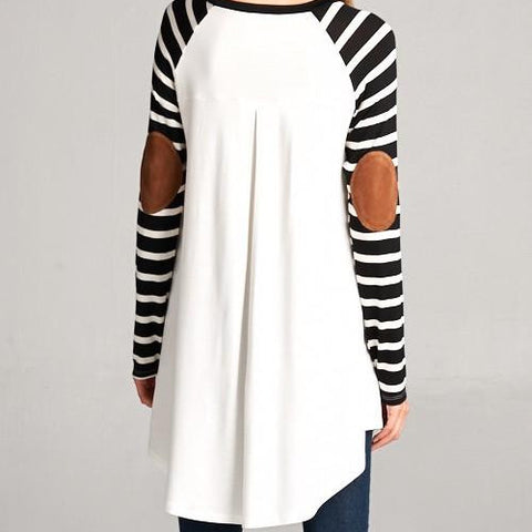 Elbow Patch Baseball Top