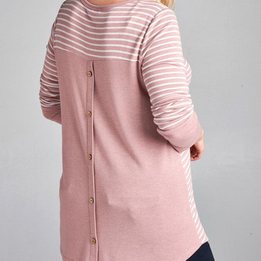 Back Button Sweater