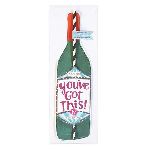 """You've Got This"" Bottle Straw Card"