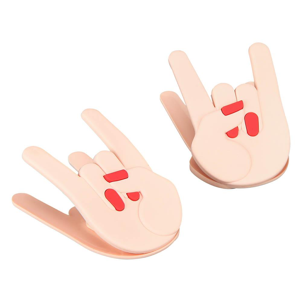 """Rocker Hands"" Snack Clips (Set of 2 Clips)"