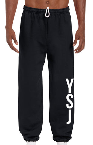 YSJ 2019 - Black Unisex Sweats with YSJ Logo in White