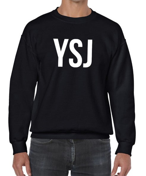 YSJ Fall 2020 - Unisex Sweatshirt in Black with White Font