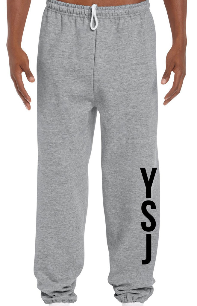 YSJ Unisex Sweatpants - Heather Grey / Black