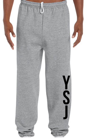 YSJ 2019 - Heather Grey Unisex Sweats with YSJ Logo in Black