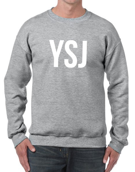 YSJ 2019 - Unisex Sweatshirt in Heather Grey with White Font