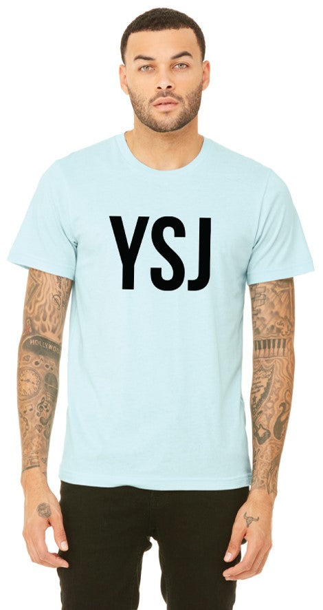YSJ 2019 - Unisex T Shirt in Heather Ice Blue with Black Font