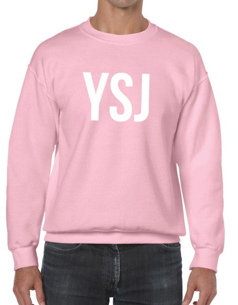 YSJ 2019 - Unisex Sweatshirt in Light Pink with White Font