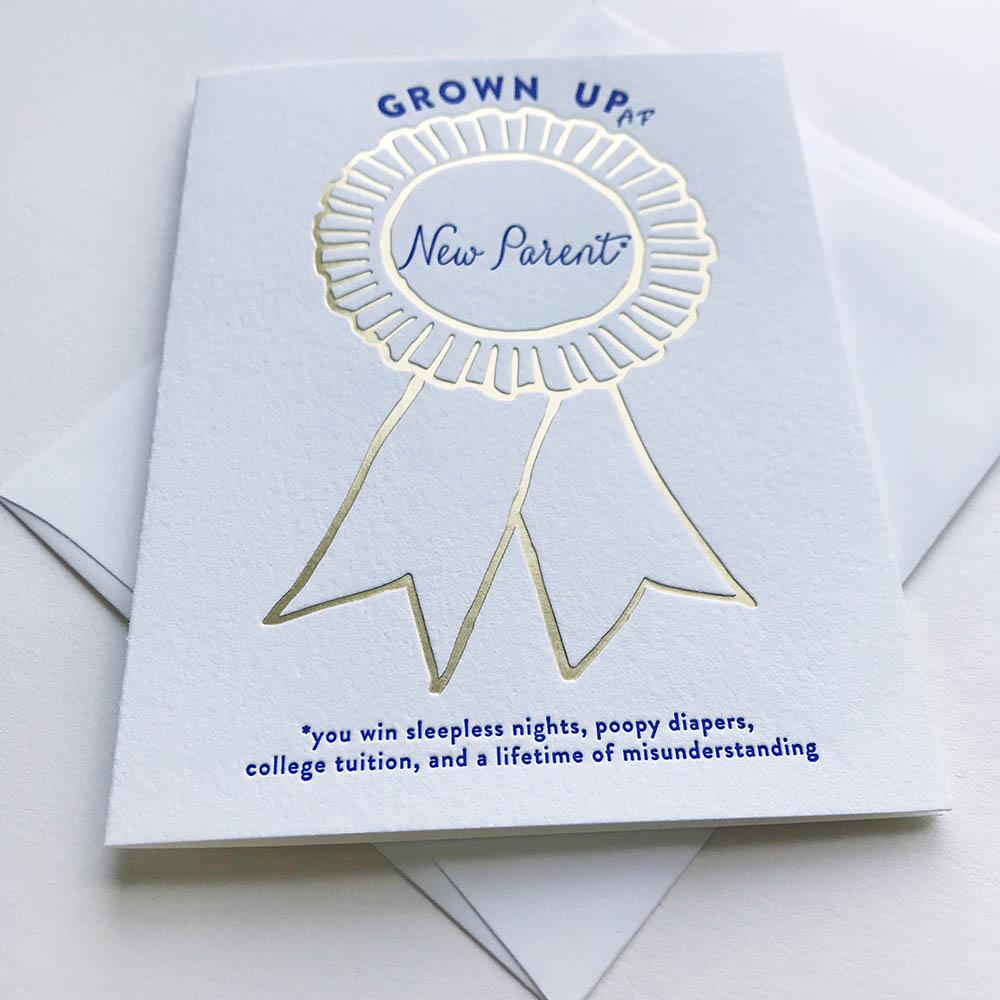 Grown Up AF - New Parent Card