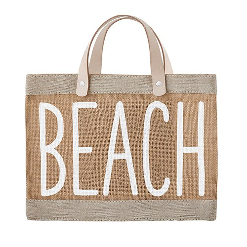 """Beach"" Mini Market Tote"