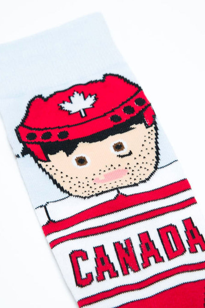 Main And Local - Canadian Hockey Player Socks