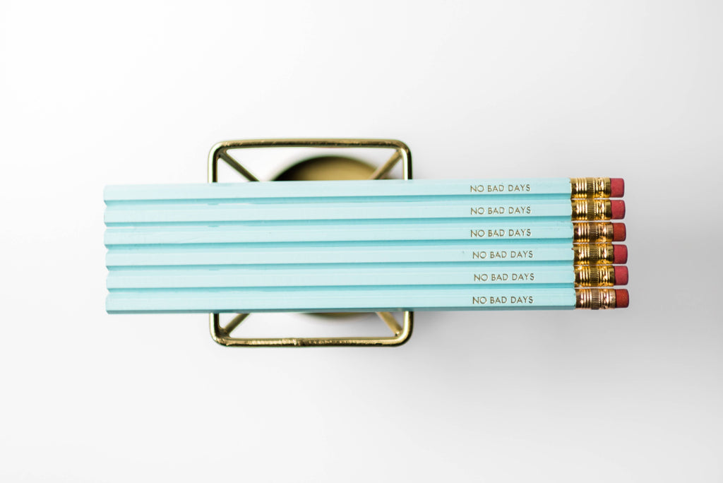 """No Bad Days"" Gold Foil Pencil"