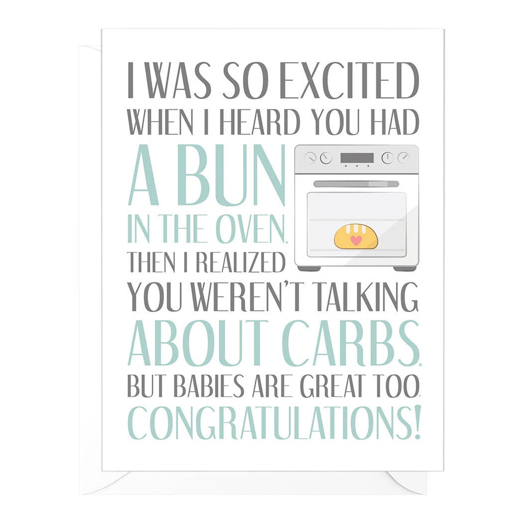 """Bun in the Oven"" Funny Pregnancy Card"