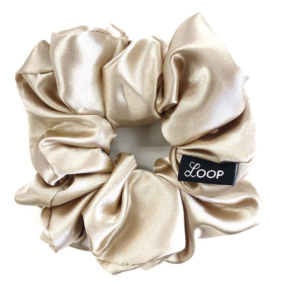Loop Scrunchies - Champagne Satin