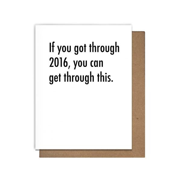 The Matt Butler Survive 2016 Encouragement Support Greeting Card Blank