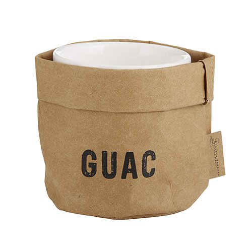 Guacamole Holder & Ceramic Dish Set