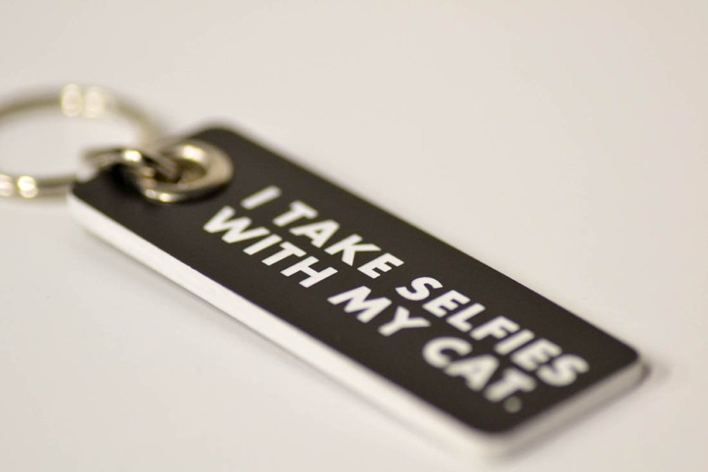 "Meriwether - ""Selfies With My Cat"" Keychain"