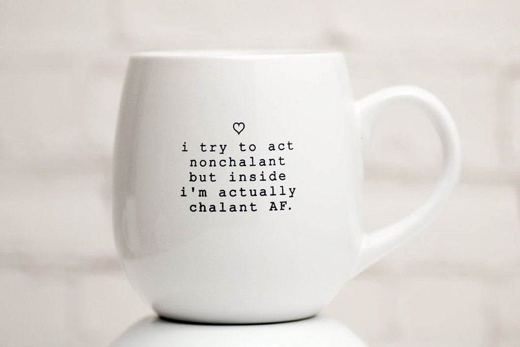 "Meriwether - ""Nonchalant"" Ceramic Coffee Mug"