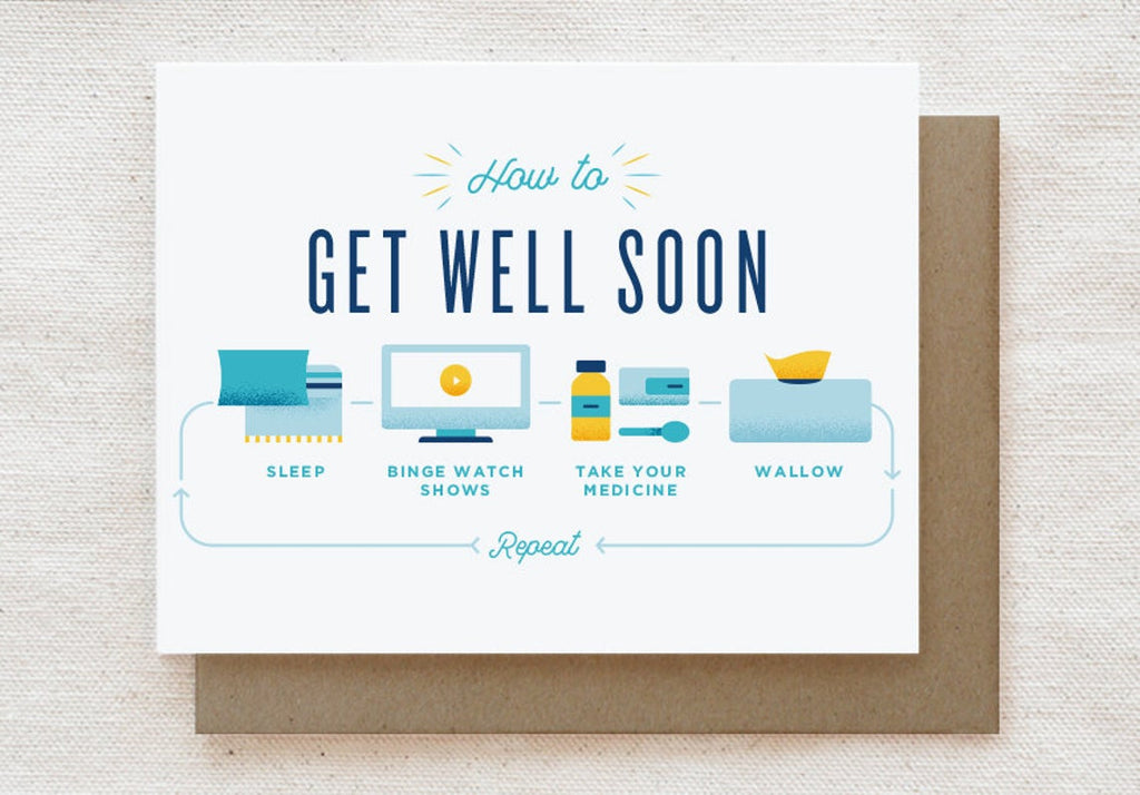 How to Get Well Soon Greeting Card