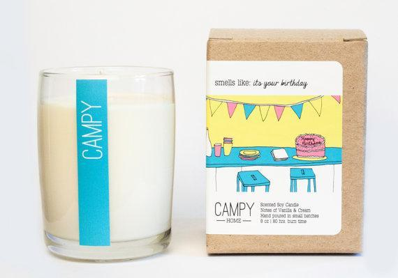 Campy Candles - Smells Like A Happy Birthday