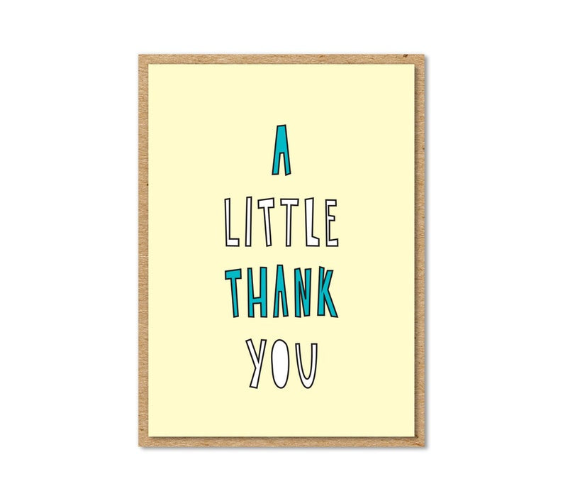 Near Modern Disaster - Little Thank You Enclosure Card