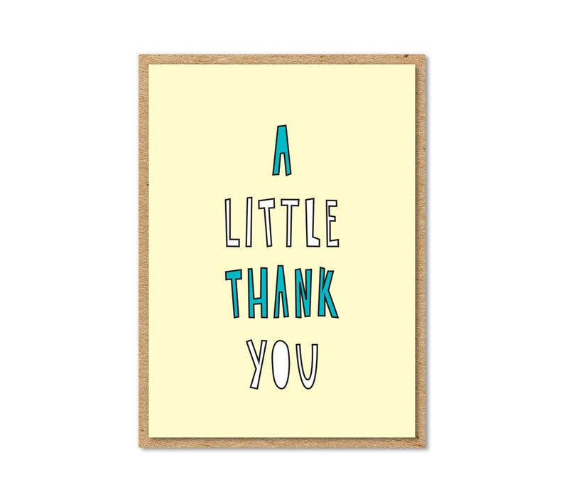 """Little Thank You"" Enclosure Card"