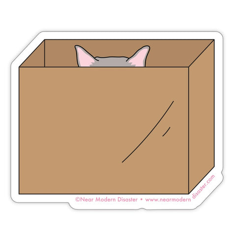 """Cat in Box"" Sticker"