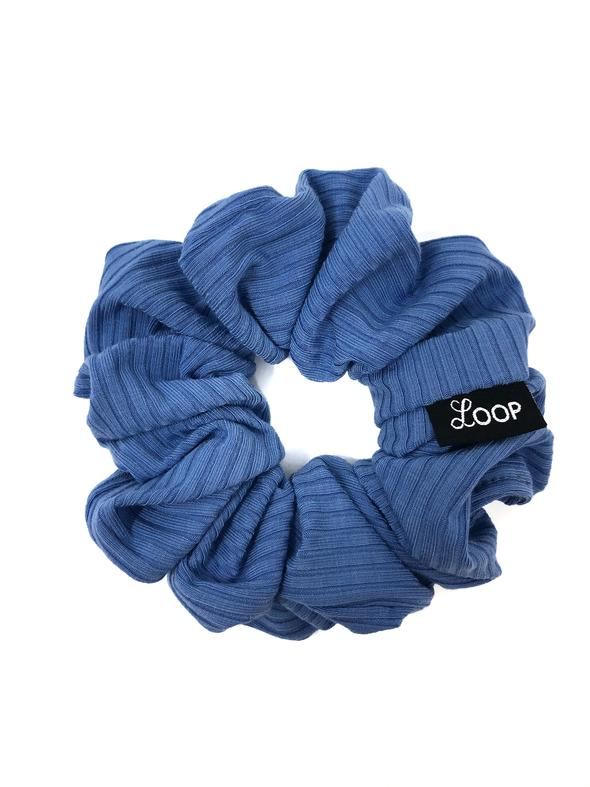 Loop Scrunchies - Blueberry Ribbed