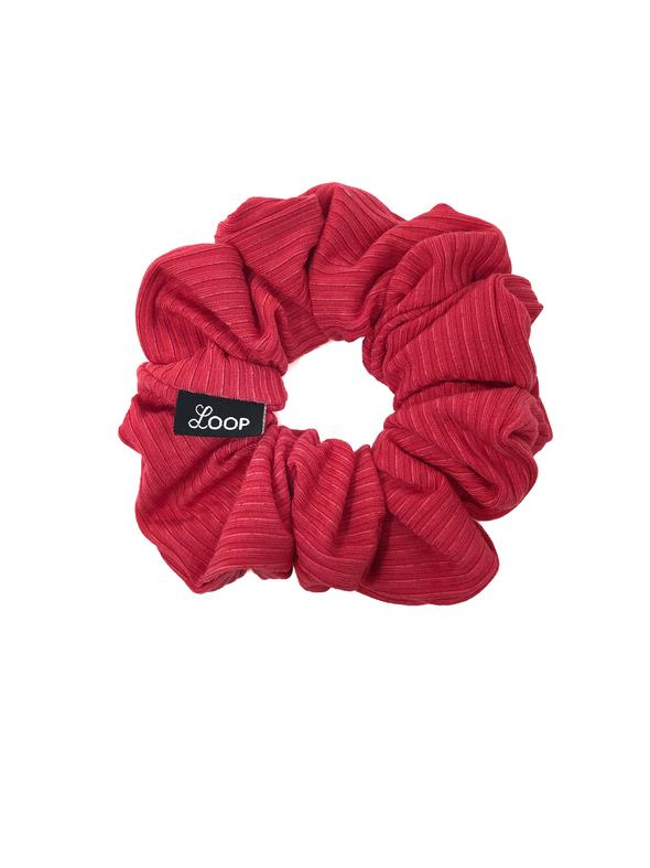 Loop Scrunchie - Strawberry Ribbed