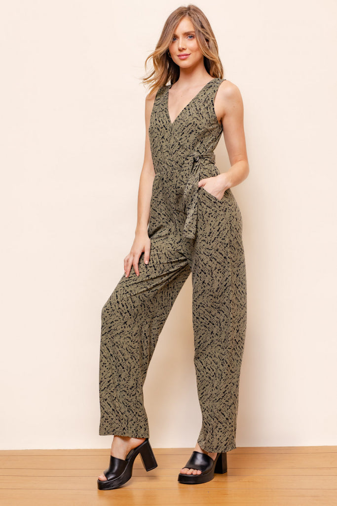 Sleeveless Side Tie Jumpsuit