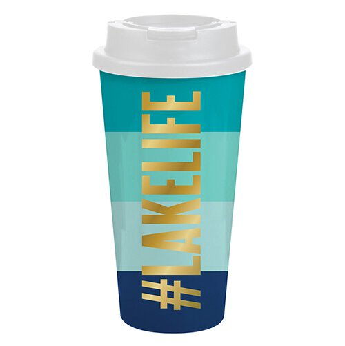 #LakeLife Double Wall Travel Tumbler