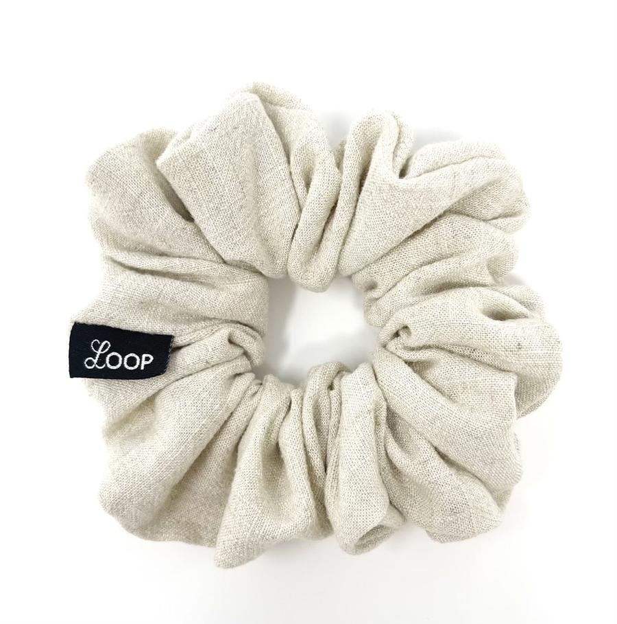 Loop Scrunchies - Oat Latte Linen