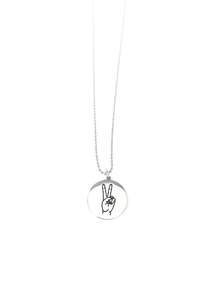 GHG - Peace Sign Necklace
