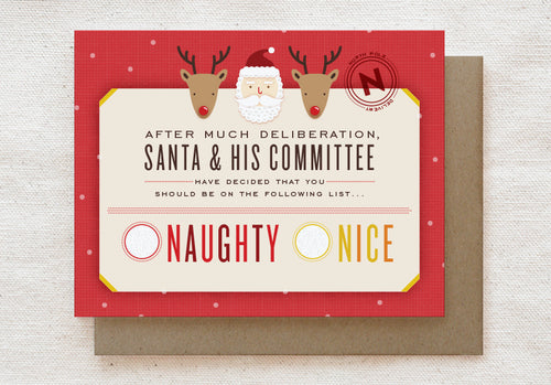 Nice List Holiday Card