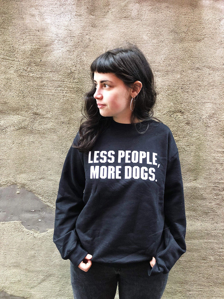Less People More Dogs Unisex Sweatshirt