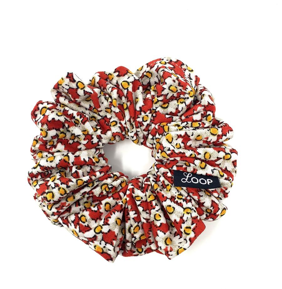 Loop Scrunchies - Red Daisy