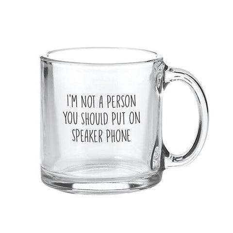 """.. Speaker Phone .."" Glass Mug"