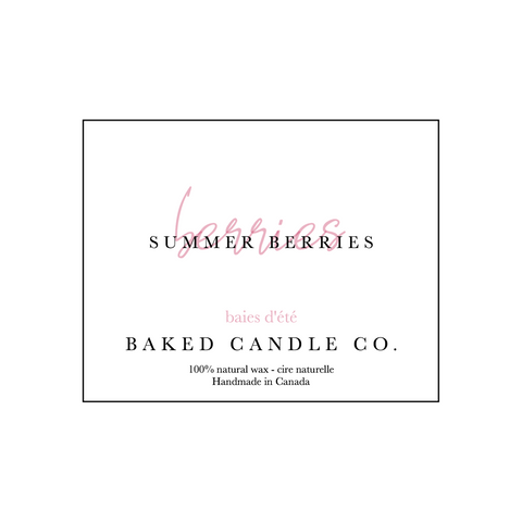 Baked Candle Co. - Summer Berries Candle