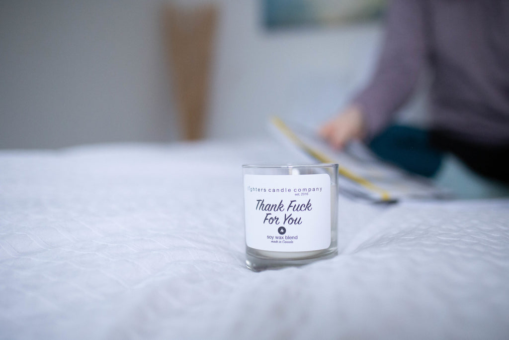 """Thank Fuck For You"" Soy Candle"