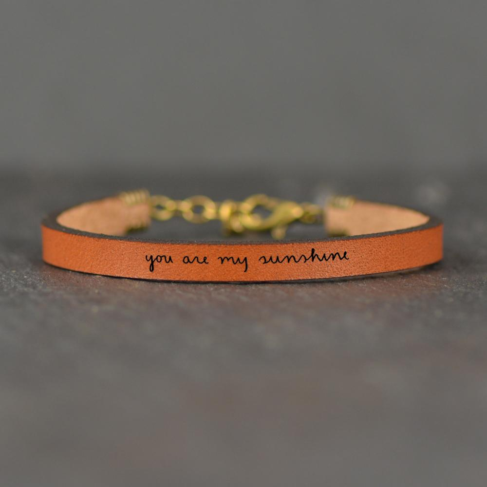 "Laurel Denise - ""You Are My Sunshine"" Bracelet - Metallic Rose Gold"