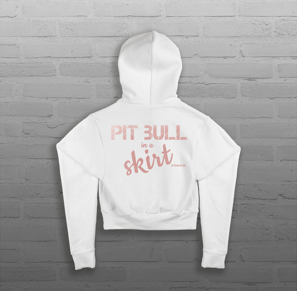 Pit Bull in a Skirt - Women - Cropped Hoody
