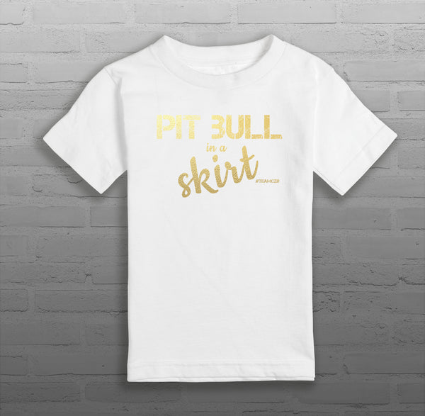 Pit Bull in a Skirt - Kids & Youth - T-Shirt