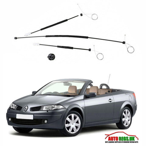 Renault Megane 2 Cabriolet Electric Window Regulator Repair Kit 2003 - 2009