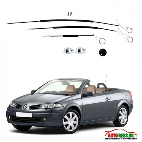 Renault Megane Cabriolet Electric Window Regulator Repair Kit 2003 - 2009