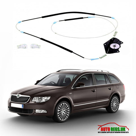 Skoda Superb Electric Window Regulator Repair Kit 2002 - 2008
